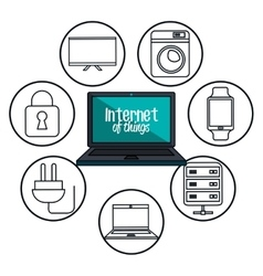 internet of things flat icons vector image
