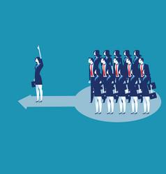 leadership business lading team worker go vector image