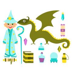 little boy wizard vector image