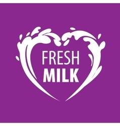 Logo milk vector