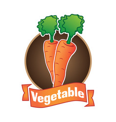 Logo of vegetables and natural product vector