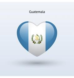 Love Guatemala symbol Heart flag icon vector image