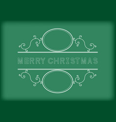 merry christmas word monogram blackboard vector image