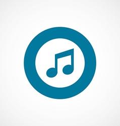 Music bold blue border circle icon vector