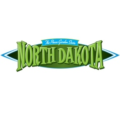 North Dakota The Peace Garden State vector image