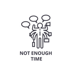 Not enough time thin line icon sign symbol vector