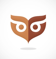 owl mask abstract logo vector image