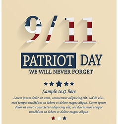 Patriots day vector image