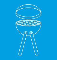 picnic cooking barbecue device icon outline style vector image