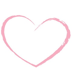 pink heart drawing love valentine vector image