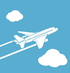 Plane silhouette Stock vector image