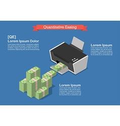 Quantitative easing vector image