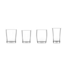 Realistic glass cup transparent glassware vector