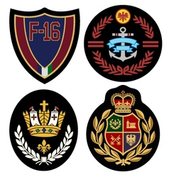 royal badge design set vector image vector image