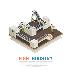 Sea food production background vector