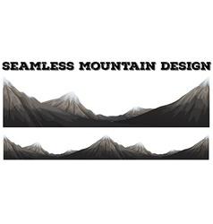 Seamless mountain with snow peak vector image