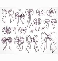 set of bows for the design vector image