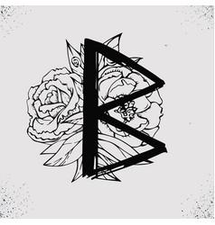 set old runes vector image