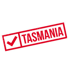tasmania rubber stamp vector image