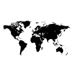 Template world map planet silhouettes continents vector