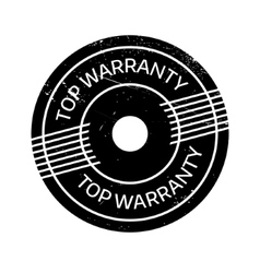 Top warranty rubber stamp vector