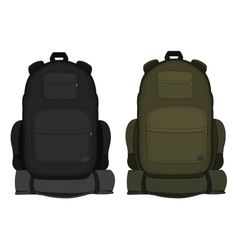 Travel backpacks Green and black vector