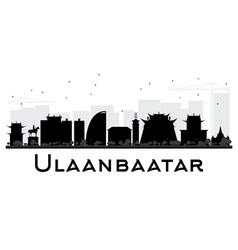 Ulaanbaatar City skyline vector