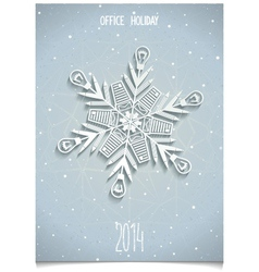 White 3D stylised snowflake vector
