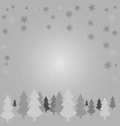 white silhouettes of trees against a gray vector image