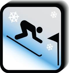 Winter icon -Slalom vector image