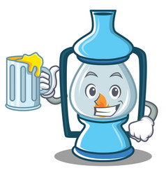 With juice lantern character cartoon style vector