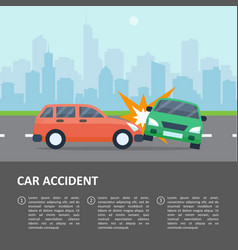car accident template vector image vector image