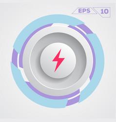 energy circle icon vector image vector image