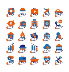Insurance Service Icons Set vector image vector image