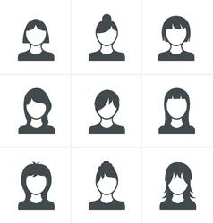 Woman Icons Set Design vector image