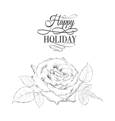 Happy holiday valntines card vector image