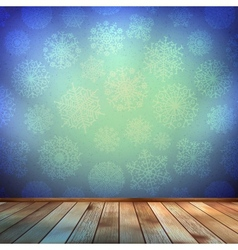 Christmas room and blue wall EPS 10 vector image vector image