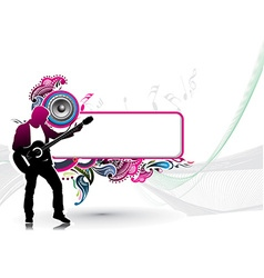 silhouette music men play a guitar vector image vector image