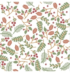 christmass seamless floral texture vector image vector image