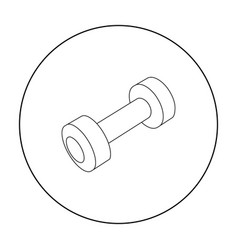 Dumbbells icon outline single sport icon from the vector