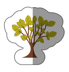 lime green tree art icon vector image