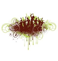 retro dance background vector image vector image