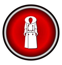 Women coat icon on white background vector image vector image