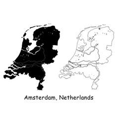 1124 amsterdam netherlands vector image