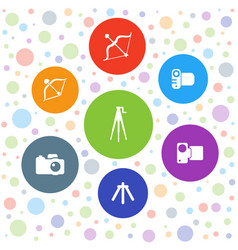 7 shoot icons vector