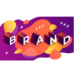 abstract brand banner isometric style vector image
