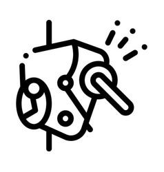 alpinism metallic protection mechanism icon vector image