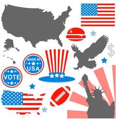 American symbols set vector