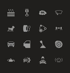 Auto - flat icons vector