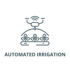 Automated irrigation line icon automated vector
